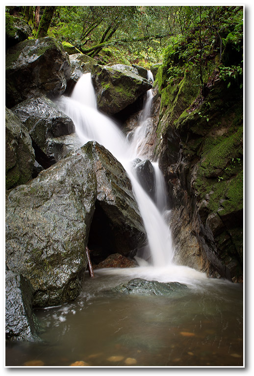 Sonoma Creek Waterfall in Winter Sugarloaf ridge state park keith c. flood photography